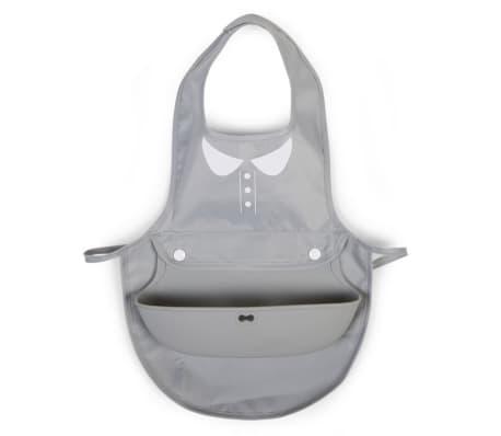 CHILDWOOD Lätzchen Bluse mit Auffangschale Grau CHBIBGGB[1/2]