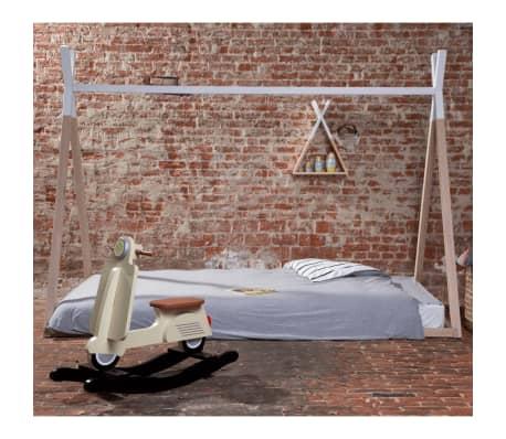 CHILDHOME Lovos rėmas, medienos ir baltos spalvos, 90x200cm[7/9]