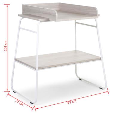 CHILDWOOD Table à langer Bois Gris cendré et blanc CHTAWH[4/4]
