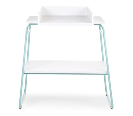 childwood wickeltisch holz minzgr n und wei chtimb im vidaxl trendshop. Black Bedroom Furniture Sets. Home Design Ideas