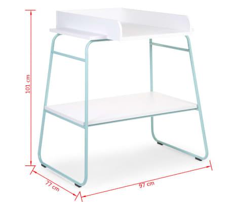 Acheter childwood table langer bois menthe et blanc for Table a langer childwood
