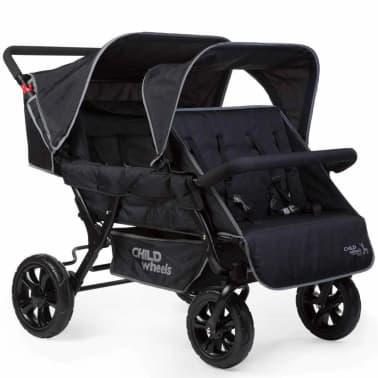 CHILDWHEELS Zwei-Mal-Zwei Vierlinge-Kinderwagen Schwarz CWTB2[1/4]