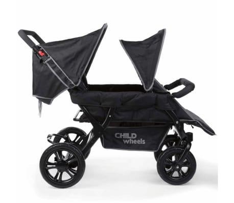 CHILDWHEELS Zwei-Mal-Zwei Vierlinge-Kinderwagen Schwarz CWTB2[2/4]