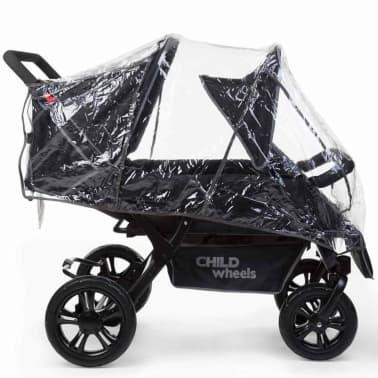 CHILDWHEELS Zwei-Mal-Zwei Vierlinge-Kinderwagen Schwarz CWTB2[3/4]
