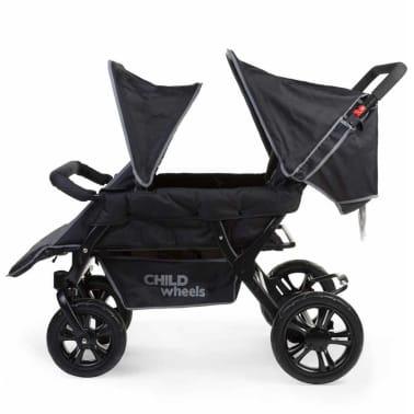 CHILDWHEELS Zwei-Mal-Zwei Vierlinge-Kinderwagen Schwarz CWTB2[4/4]