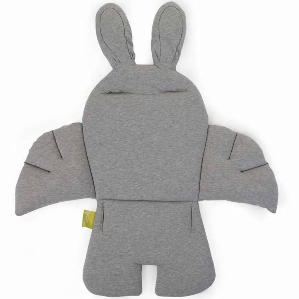 Afbeelding van CHILDWOOD Kinderstoelkussen universeel konijnvormig grijs CCRASCJG