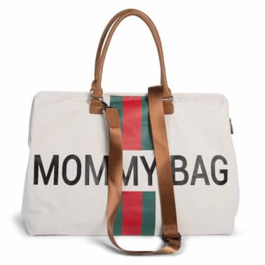 CHILDHOME Sac à couches Mommy Bag Blanc cassé et rouge Toile