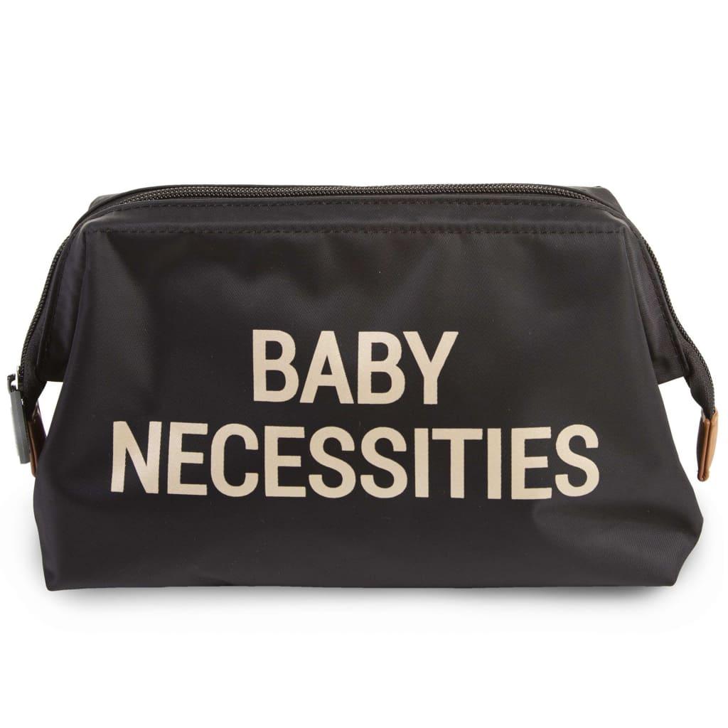 CHILDHOME Toalettmappe Baby Necessities svart gull