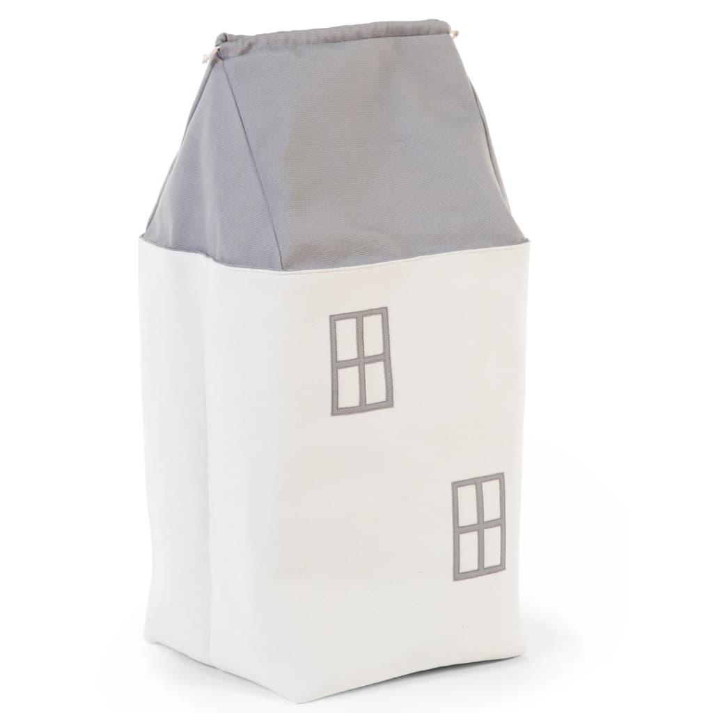 99427377 CHILDHOME Spielzeug Aufbewahrungsbox Haus Grau und Cremeweiß