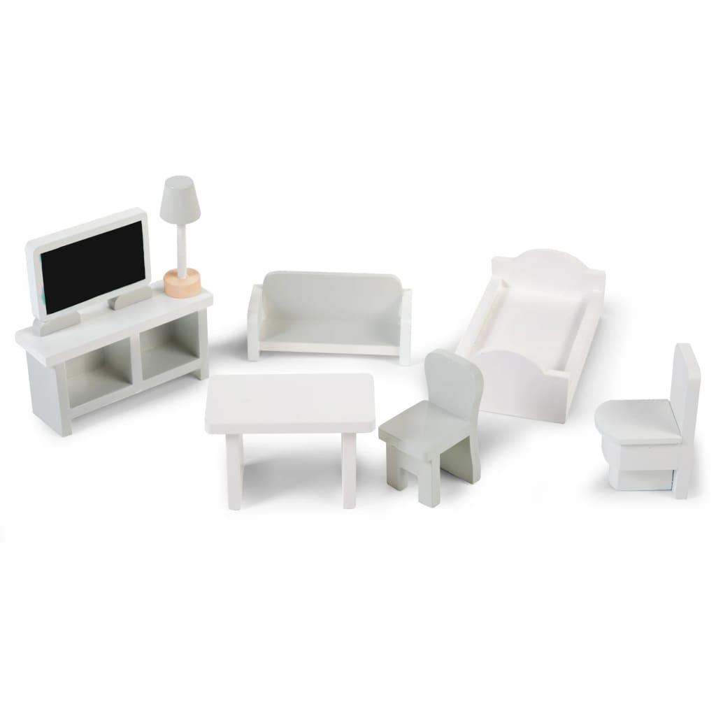 CHILDHOME Ensemble de meubles en miniature 8 pcs Blanc
