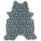 CHILDHOME Barnmatta 145x160 cm leopard blå
