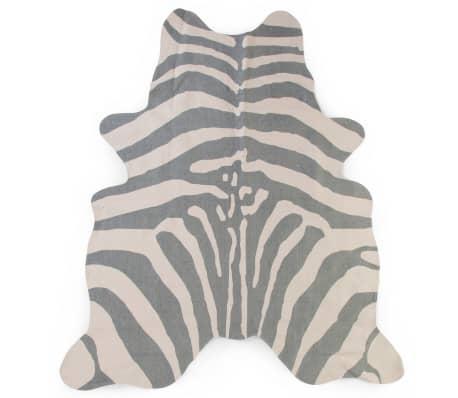 CHILDHOME Barnmatta 145x160 cm zebra grå
