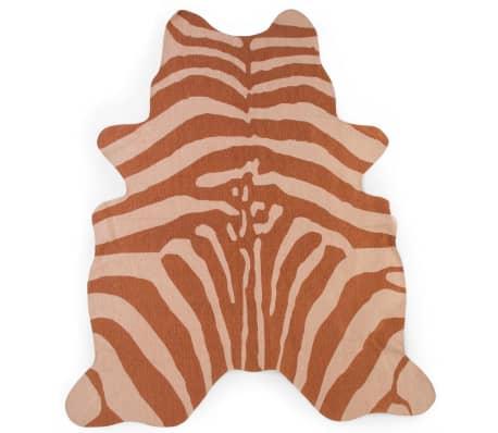 CHILDHOME Kindertapijt 145x160 cm zebraprint nude