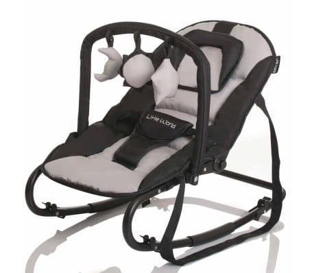 Little World Transat pour bébés Stardust Noir et gris LWBO001-GYBK