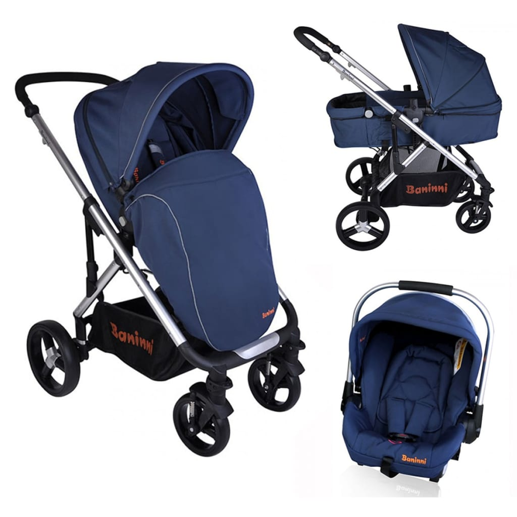 Kinderwagen Baninni Nobel 3-in-1 Blue
