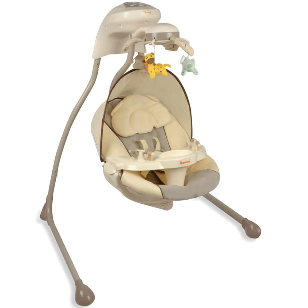 Afbeelding van Baninni Babyschommelstoel Dodoli grijs en beige BNBS001-GY