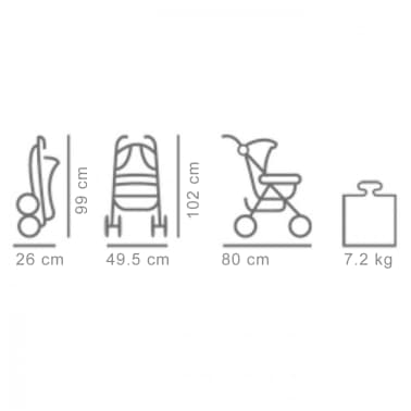 Baninni Buggy Luca grijs BNST015-GY[4/4]