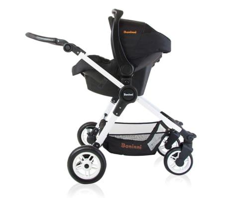 Baninni 3-1 Vaikiškas vežimėlis Ayo, juoda ir balta BNST011-WHBK[4/5]
