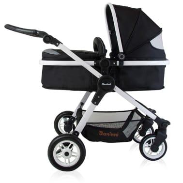 Baninni 3-1 Vaikiškas vežimėlis Ayo, juoda ir balta BNST011-WHBK[3/5]