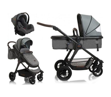 Baninni 3-1 Vaikiškas vežimėlis Ayo Limited Edition, pilkas[3/9]