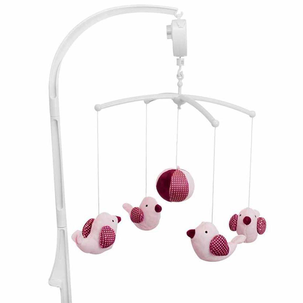 Afbeelding van Baninni Babymobiel met muziek Pink Bird roze BNMM001-PKBD