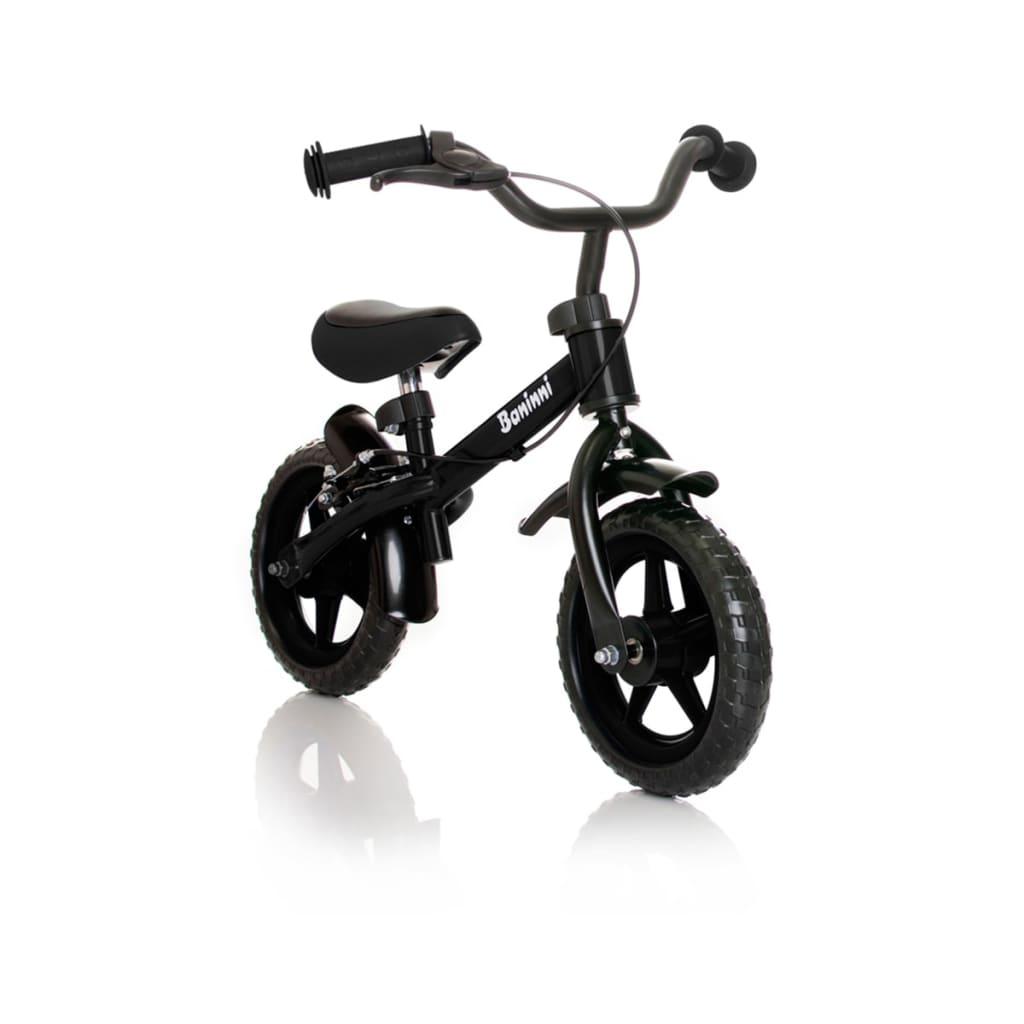 Baninni Bicicleta de equilíbrio Wheely preto BNFK012-BK