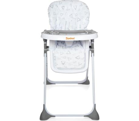 acheter baninni chaise haute pliante olivo gris pas cher. Black Bedroom Furniture Sets. Home Design Ideas