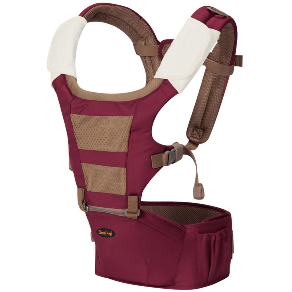 Afbeelding van Baninni 3 in 1 Babydrager met heupstoeltje Porta 15 kg rood BNBC003 RD