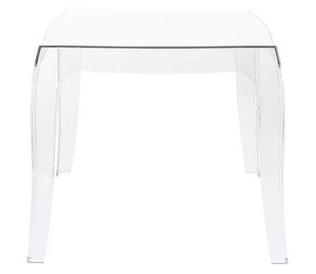 Acheter table d 39 appoint 39 retro 39 design transparente pas cher - Console transparente design ...