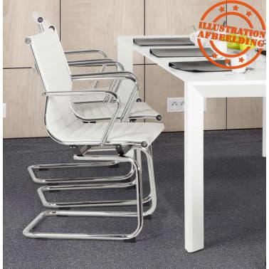 Design Bureaustoel Wit.Design Bureaustoel Giga In Wit Kunstleder Online Vidaxl Be