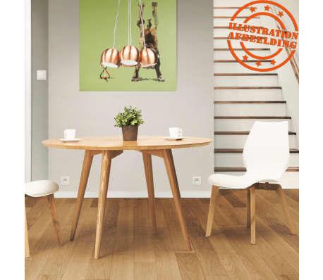 Ongebruikt Naturel houten, ronde eettafel 'SWEDY' in Scandinavische stijl - Ø VM-55