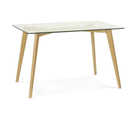 Petite table / bureau droit 'BUGY' en verre - 120x80 cm[2/8]