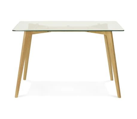 Petite table / bureau droit 'BUGY' en verre - 120x80 cm[4/8]