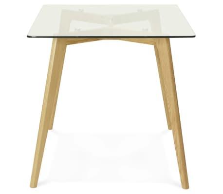 Petite table / bureau droit 'BUGY' en verre - 120x80 cm[5/8]