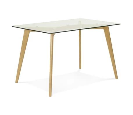 Petite table / bureau droit 'BUGY' en verre - 120x80 cm[6/8]