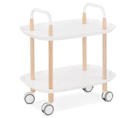 acheter desserte roulante 39 veloce 39 blanche design pas cher. Black Bedroom Furniture Sets. Home Design Ideas