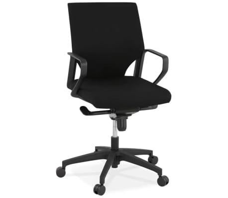 Design bureaustoel 'KIWI LOW' in zwarte stof[2/8]