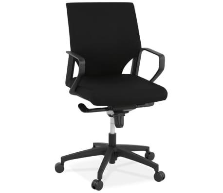 Design bureaustoel 'KIWI LOW' in zwarte stof[3/8]