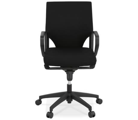 Design bureaustoel 'KIWI LOW' in zwarte stof[4/8]