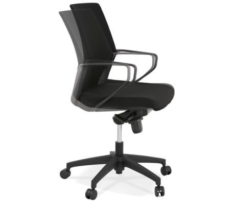 Design bureaustoel 'KIWI LOW' in zwarte stof[1/8]
