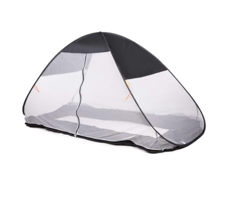 DERYAN Moskitonetz Pop-up-Zelt für Betten 200×90×110 cm Grau