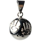 Babylonia Bola Pendant with Handprints Silver BOLA 1 VF116