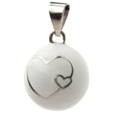 Babylonia Bola Pendant with Big & Small Heart White BOLA 1 VK600
