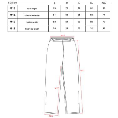 Willex Pantalon de pluie Taille S Noir 29615[2/2]