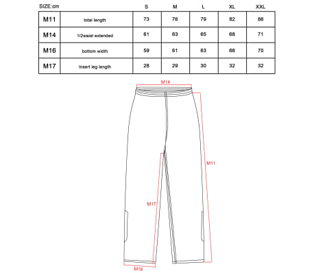 Willex Pantalon de pluie Taille M Noir 29616[2/2]