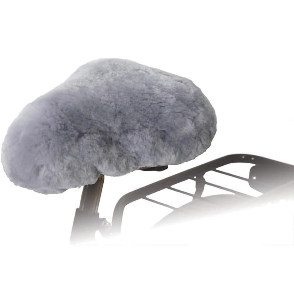 Willex Husă pentru șa bicicletă, gri, piele de oaie, 30135 poza 2021 Willex