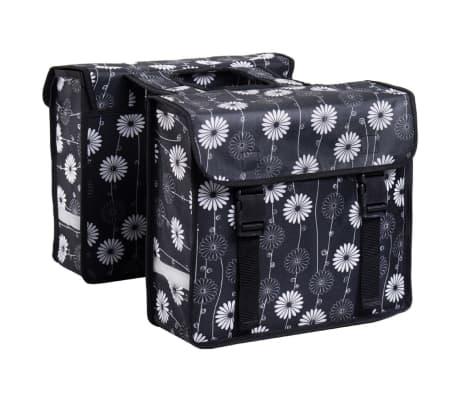 7-series Dviračio krepšiai, 26 L, gėlėtas dizainas, juodos sp., 72102[1/2]
