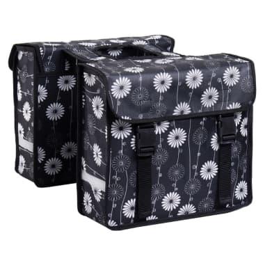 7-series Dviračio krepšiai, 26 L, gėlėtas dizainas, juodos sp., 72102[2/2]