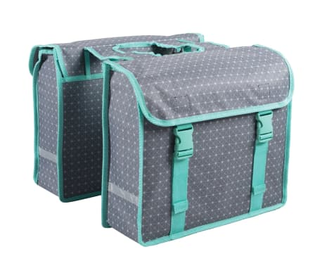 7-series Dviračio krepšiai, 26 L, geometrinis raštas, pilki, 72116[2/2]