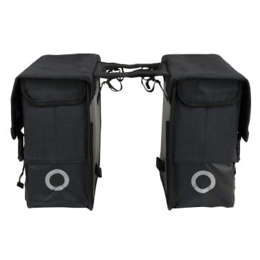 Willex Alforja doble de lona para bicicleta 40 L negra 15136[3/5]